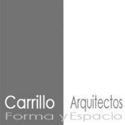 Logotipo Carrillo arquitecto en blanco y negro